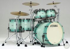 Excellent blend of sea green and dark hardware