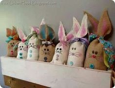 Burlap bunny bags