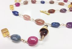 Sapphire Statement Necklace by GinnyTaylorDesigns on Etsy, $435.00