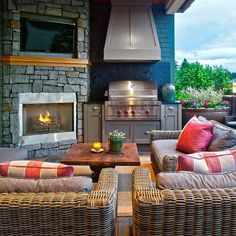 This deck is begging for a backyard BBQ! Is your home ready for grilling season? (: #PorchPro Schuler Architecture)