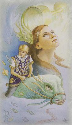 Celtic Dragon Tarot (DJ Conway, Lisa Hunt): Knight of Cups via http://www.albideuter.de/html/keltische_drachen_47.html