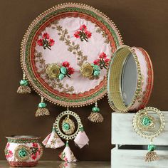 Arti Thali Decoration, Diwali Decoration Items, Online Gift Shop, Online Gifts, Karwa Chauth Gift, Loneliness Photography, Easy Crafts, Arts And Crafts, Janmashtami Decoration