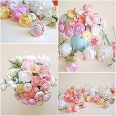 Christine Paper Design - it\'s me Paper Flower Art, Paper Flowers Craft, How To Make Paper Flowers, Flower Crafts, Diy Flowers, Crepe Paper Flowers Tutorial, Crepe Paper Roses, Paper Floral Arrangements, Diy Paper