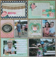 Creating Layers & Dimension in your Project Life Layouts by Jodie King Project Life Planner, Project Life Layouts, Project Life Album, Project Life Scrapbook, Project Life Cards, Baby Scrapbook, Washi, Mini Albums, Scrapbook Sketches