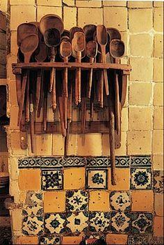 Cocina mexicana, utensilios  de madera
