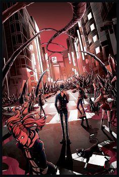 Persona 5 artworks 2, Kevin Patag on ArtStation at https://www.artstation.com/artwork/53E9g