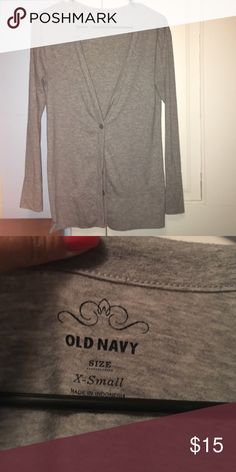 Old navy cardigan XS Old Navy cardigan - fits more like a small. Old Navy Tops Button Down Shirts
