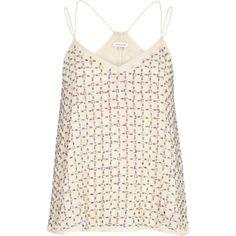 Cream embellished swing cami top - cami / sleeveless tops - tops - women
