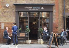 Taylor St Baristas, Old Broad St. The BEST coffee I have ever tasted. Only open weekdays.