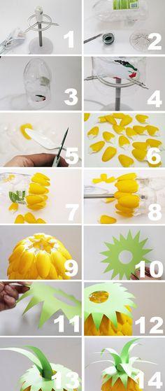 Veja como fazer luminária de mesa criativa reaproveitando uma garrafa de água e colheres de plástico! O resultado é lindo e o passo a passo muito simples. Confira!