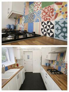 colourful kitchen tiles <3