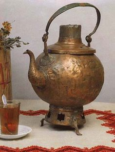 Old and nice teapot