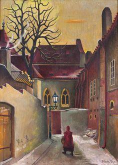 Josef Matička 1893-1976  Klášterní ulička I, 1955
