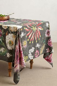 Butterfly Field Tablecloth - anthropologie.com