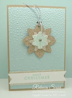 Flurry of Wishes stamp set and matching punch teamed with the new Softly Falling embossing folder