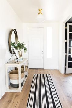 ENTRY WAY   Black and Ivory Striped   McGee & Co.
