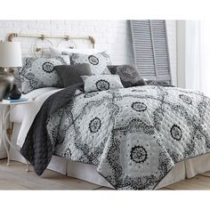 Delany 6-piece Grey Quilt Set