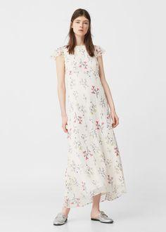 Fließendes Kleid mit Blümchen-Dessin