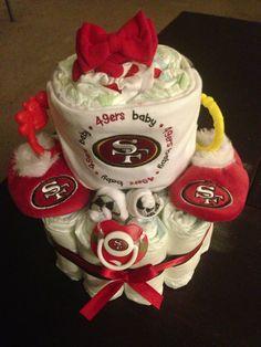 49er Diaper Cake www.4momsandpops.com