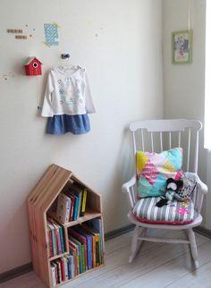 Chambre bébé - Maison bibliothèque
