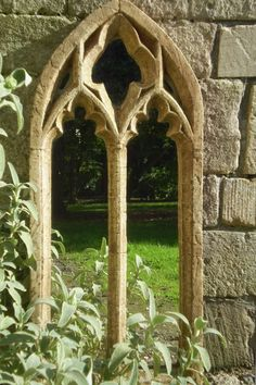 Add a Gothic garden mirror, just in case anyone isn't sure what look you're going for. ;)