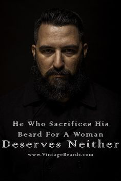 Never sacrifice the beard! We offer all-natural handcrafted beard care products. When you buy beard care products from us, you are supporting a small veteran owned business. www.VintageBeards.com