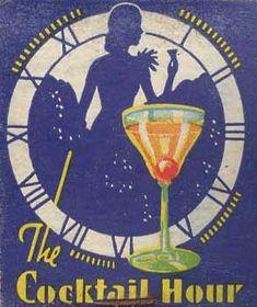 Matchbook - Cocktail Hour by captainpandapants Vintage Bar, Vintage Labels, Vintage Posters, Cocktail Illustration, Illustration Art, Logo Label, Vintage Cocktails, Matchbox Art, Ad Art