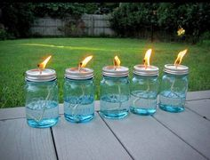 GREAT IDEA!! FOR BACKYARD FUN, NO BUGS!! There was some discussion a while back on getting rid of mosquitoes. While there's lots of products out there, here's one way to do it, have a stylish yard and keep the costs down too. All you need is a package of Mason jars, some cotton string and some liquid citronella (find it in big jugs at any home-improvement store and even some grocery stores). Use ahammer and nail to poke a hole in the top of the lid, then pour in the citronella, put the top…