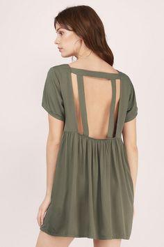 Solid Love Babydoll Dress at Tobi.com #shoptobi