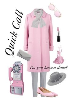 """""""Quick Call"""" by simplymeganjoyblog on Polyvore. #vintagefashion #vintage #fashion #outfits #style #modern #style #pink #gray"""
