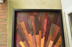 wooden wall art Second Avenue Sunrise wood by StainsAndGrains