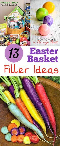 13 Easter Basket Filler Ideas. Great ideas for Easter Basket fillers for all ages..