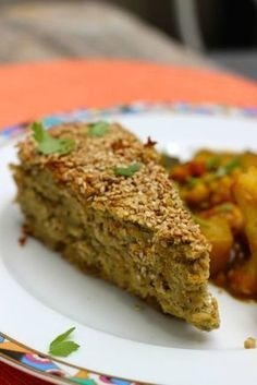 Lebanese Chickpea and Eggplant Cake - Eat Veggie! Italian Soup Recipes, Lebanese Recipes, My Recipes, Vegetarian Recipes, Favorite Recipes, Healthy Recipes, Middle East Food, Go Veggie, Food Porn