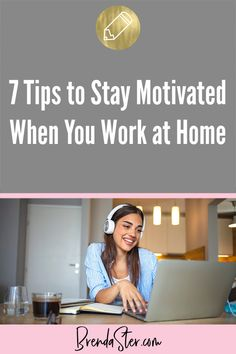 Learn how to stay motivated when your work from home. People struggle with work at home jobs because they don't have a team to draw energy from or a boss to hold them accountable. Use these expert tips on motivational techniques to stay productive and keep yourself organized. #SocialMediaMarketing Don't forget to repin this for later!! Work From Home Tips // Work From Home Tricks // Working from Home //
