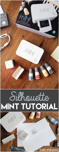 If you haven't heard of the Mint, you've got to check out our Silhouette Mint tutorial! It's a really cool mini machine that creates custom stamps! Silhouette Mint, Silhouette Cutter, Silhouette School, Silhouette Curio, Silhouette America, Silhouette Portrait, Silhouette Cameo Projects, Silhouette Design, Stamp Making