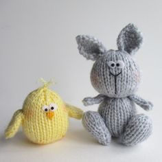 Bunny and Chicky - Knitting Patterns at Makerist