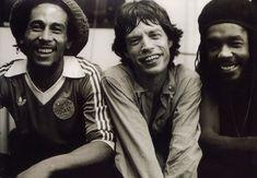 Bob Marley, Mick Jagger and Peter Tosh