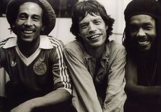 Bob Marley, Mick Jagger & Peter Tosh - This looks like a party to me