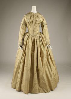 Dress, ca. 1840,  American, silk, The Metropolitan Museum of Art