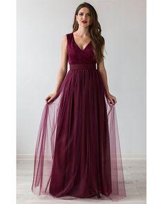 Formal Prom Dress Burgundy.Bridesmaid Dress von Dioriss auf Etsy