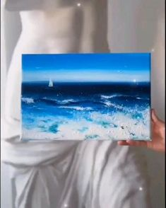 Simple Canvas Paintings, Small Canvas Art, Diy Canvas Art, Acrylic Painting Canvas, Canvas Painting Tutorials, Diy Painting, Painting Northern Lights, Art Drawings Sketches Simple, Art Lessons