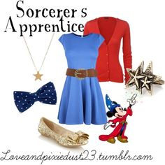Sorcerer's Apprentice by loveandpixiedust featuring a red ruffle cardigan