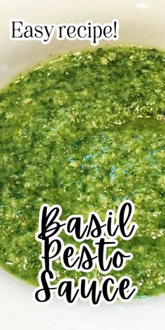 This Basil Pesto recipe is so easy and a great way to use home-brown Basil. Super easy to make and great on pasta and meats.
