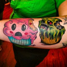 Zombie cupcake but after a teacup... @Travis Vachon Corkery