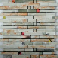 Metal wall tiles kitchen backsplash red crystal glass diamond adhesive mosaic sheets peel and stick cheap tile designs for shower MG1598; Size: 305x305x4mm; Color: Red and Green; Shape: Strip; Usage: Backsplash & Wall