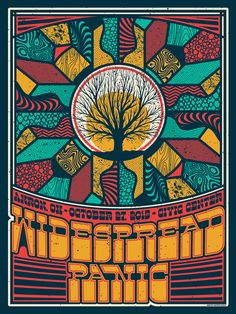 Widespread Panic Concert Poster Akron OH Regular Edition