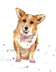 Loving CORGI Art print