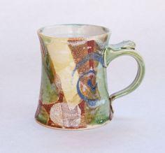 Small Coffee Mug Handmade Comfortable Mug by BattonClayworksEtc, $28.00