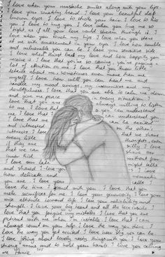 love letter + drawing ^^ We are in a long distance relationship with my boyfriend and we planned to meet for our 1 year anniversary after we were distant for almost a year. We couldn't make it, so I wrote him a letter ♥️ words Drawings For Him, Drawings With Meaning, Drawings For Boyfriend, Cute Couple Drawings, Art Drawings Sketches Simple, Pencil Art Drawings, Easy Drawings, Drawing Drawing, Sketches Of Love