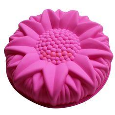 Grande torta del silicone della muffa stampi da dessert grande girasole styling…